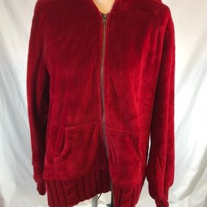 Torrid 3 velour soft fuzzy hooded jacket